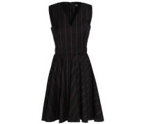 Fluted striped wool mini dress