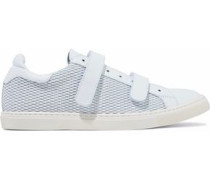 Cutout leather sneakers