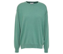 Woman Bead-embellished Cashmere Sweater Leaf Green
