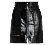 Patent-leather mini skirt