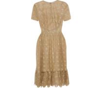 Metallic Crocheted Dress Gold