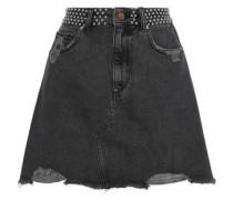 Georgia Studded Distressed Denim Mini Skirt Anthracite  6