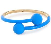 Gold-tone Enamel Cuff Blue Size --