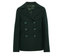 New Hector Double-breasted Wool-blend Peacoat Forest Green
