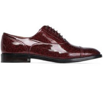 Glittered patent-leather brogues