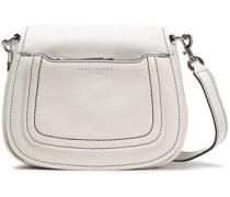 Textured-leather Shoulder Bag White Size --
