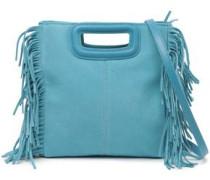 Fringed Suede Shoulder Bag Turquoise Size --