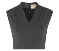 Kelis cropped stretch-jersey top
