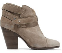 Suede Ankle Boots Mushroom
