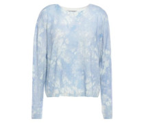 Tie-dyed Cashmere Sweater Light Blue