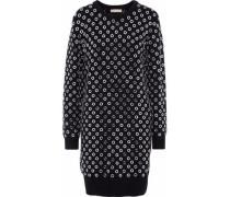 Eyelet-embellished Cashmere Dress Black