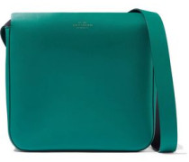 Compton Leather Shoulder Bag Emerald Size --