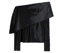 Off-the-shoulder silk-taffeta top