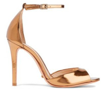 Saasha Lee mirrored-leather sandals