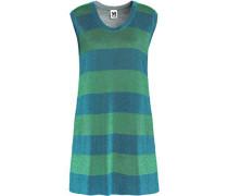 Metallic jacquard-knit mini dress