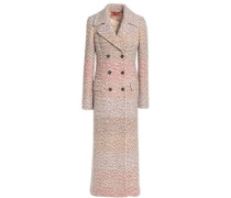 Double-breasted wool-blend bouclé coat