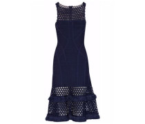 Fringed Laser-cut Bandage Dress Midnight Blue