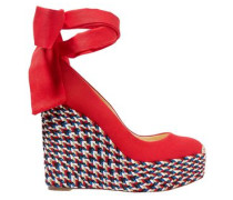 Woman Barbaria Zeppa 120 Canvas Wedge Espadrilles Red