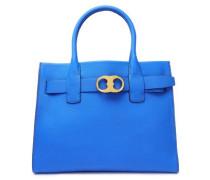 Gemini textured-leather shoulder bag