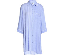 Printed crepe de chine nightshirt