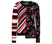 Twilight Asymmetric Jacquard-knit Sweater Black