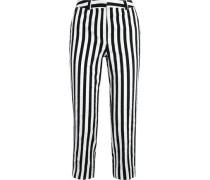 Harleyford striped cotton-blend slim-leg pants
