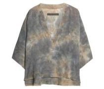 Oversized tie-dyed crepe top