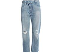 Wicked cropped distressed boyfriend jeans