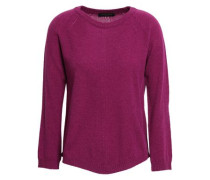 Pointelle-trimmed Wool And Cashmere-blend Sweater Purple