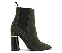 Drum Suede Ankle Boots Leaf Green