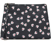 Floral-print Shell Cosmetics Case Midnight Blue Size --