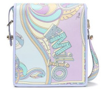 Printed Twill Shoulder Bag Lilac Size --