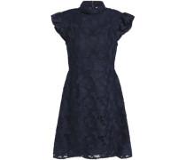Lace turtleneck mini dress