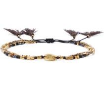 Set Of Two 18-karat Gold-plated Sterling Silver Beaded Bracelets Gold Size --