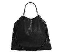 Chain-trimmed Brushed Faux Suede Shoulder Bag Black Size --