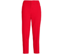 Stacey Slim cropped crepe tapered pants