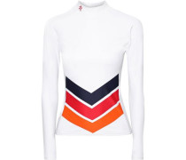 Striped Tech-jersey Rash Guard White