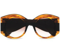 Round-frame Printed Acetate Sunglasses Brown Size --