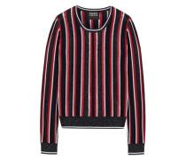Grace embellished striped merino wool-blend sweater