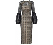 Woman Open-back Lace Dress Black
