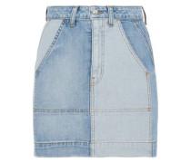 Lyla two-tone denim mini skirt