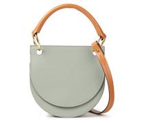 Woman Leather Shoulder Bag Grey Green