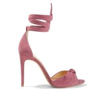 Clarita Knotted Suede Sandals Antique Rose