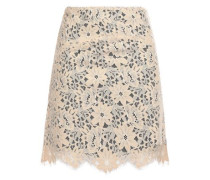 Lace Mini Skirt Beige Size 1