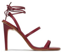 Leather Sandals Burgundy