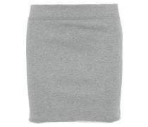 Marlie Mélange French Cotton-terry Mini Skirt Stone