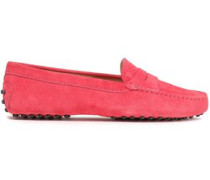 Suede Loafers Coral