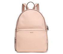 Textured-leather Backpack Pastel Pink Size --