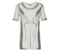 Metallic printed modal-jersey T-shirt