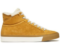 Army Shearling-lined Suede Sneakers Camel